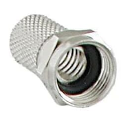 Twist-ON F-connector for antenna