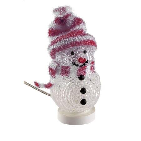 Decorative snowman with LED light.