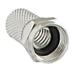 F-stik til antenne og parabol. Antennestikket har O-ring til tætning som sikrer med fugt og vand.