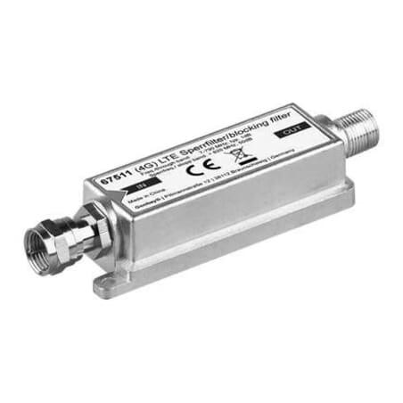 LTE / 4G LTE blocking filter -Blocking filter for DVB-T, F-plug/F-jack