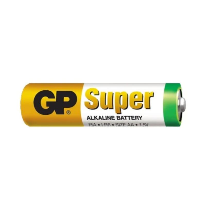 AA Batteri 1.5 Volt - GP Super alkaline batteri AA