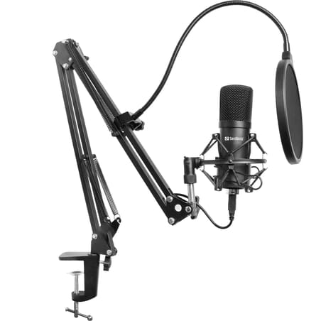 Streamer USB Microphone kit including popfilter. 5 year warranty