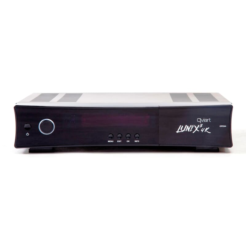 Qviart Lunix3 4K DVB-S2 FBC.  Qviart Lunix3 4K avanceret DVB-S2 FBC TV boks - distribueret af Tektronic.dk