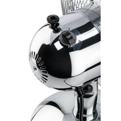 Bordventilator - Retrolook krom - med oscillerende løb eller fastlåst