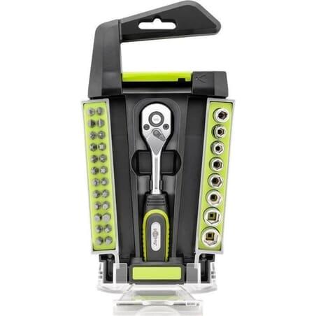"Mini Ratchet Wrench Set 1/4"" Socket, 33 parts"