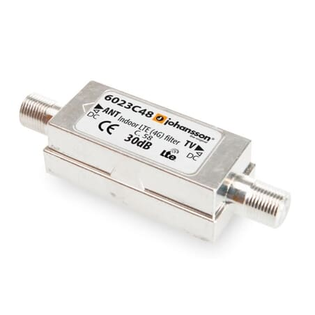 Er dit DVB-T2 signal generet af 4G eller 5G forstyrrelser kan et filter afhjælpe dette
