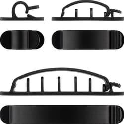 Selvklæbende kabelholder med 3M klæbepude - billigt og simpel løsning der virker