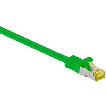Netværkskabel CAT 6A S/FTP, 500 MHz med CAT 7 rå-kabel, grøn